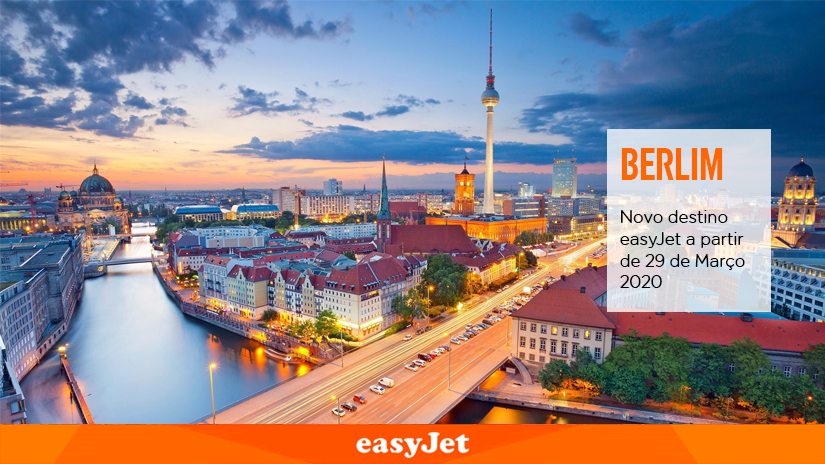 easyJet começa a voar para Berlim emMarço