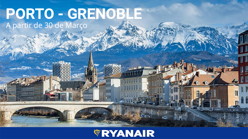 Grenoble é o novo destino direto da Ryanair noPorto